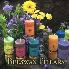 Beeswax Pillars with Essential Oils