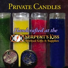 Private Ritual Candles   *SK