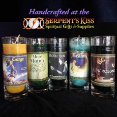 Spell Candle Pillars (hand crafted by SK owner Susan Diamond)