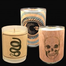 Wood-wrap Scented Votives