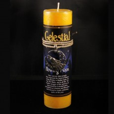 Celestial Howling Moon Candle with Pendant