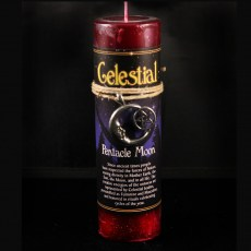 Celestial Pentacle Moon Candle with Pendant