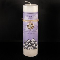 Lotus Energy Crystal Candle with Pendant