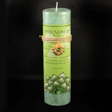 Lotus Friendship Candle with Pendant