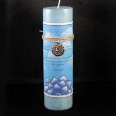 Lotus Healing Blue Topaz Candle with Pendant