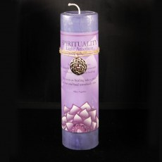 Lotus Spirituality Amethyst Candle with Pendant