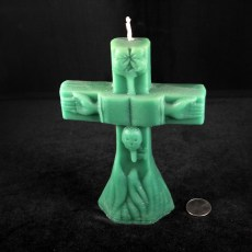 Cross Candle Large Green