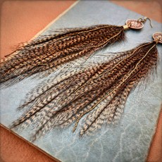 Freebird Native Head Penny Earrings