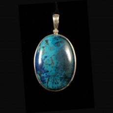 Chrysocolla Polished Pendant
