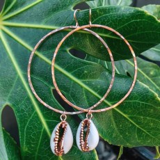 Cowry Rose Gold Earrings
