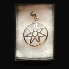 Pentagram 7 point silver