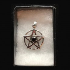 Pentagram Silver with Faceted Garnet