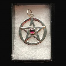 Pentagram Silver with Garnet