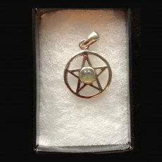 Pentagram Silver with Labradorite