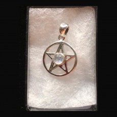 Pentagram Silver with Moonstone