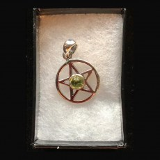 Pentagram Silver with Peridot